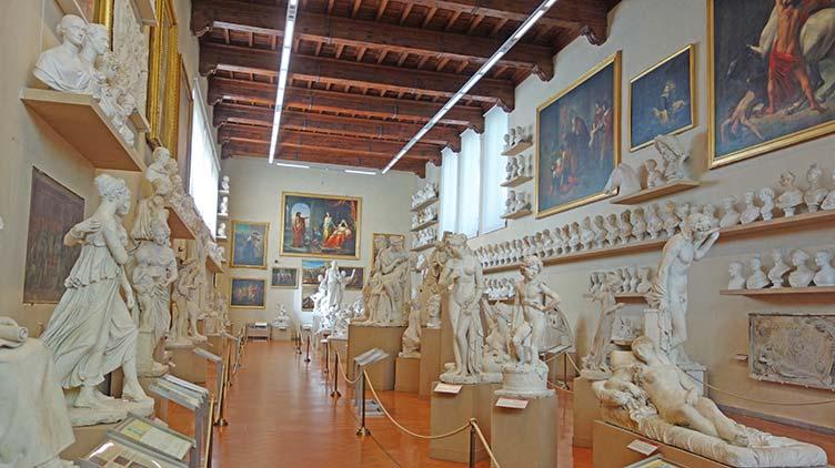 Die Werke in der Galleria dell Accademia in Florenz