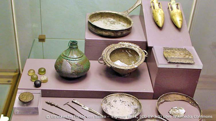 Archäologisches Nationalmuseum in Florenz: etruskische Funde