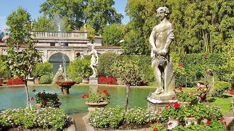 Gartenparadies im Palazzo Pfanner in Lucca